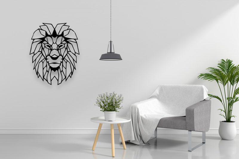 Leeuw-Uitgesneden-Plexiglas-Wanddecoratie-Breed